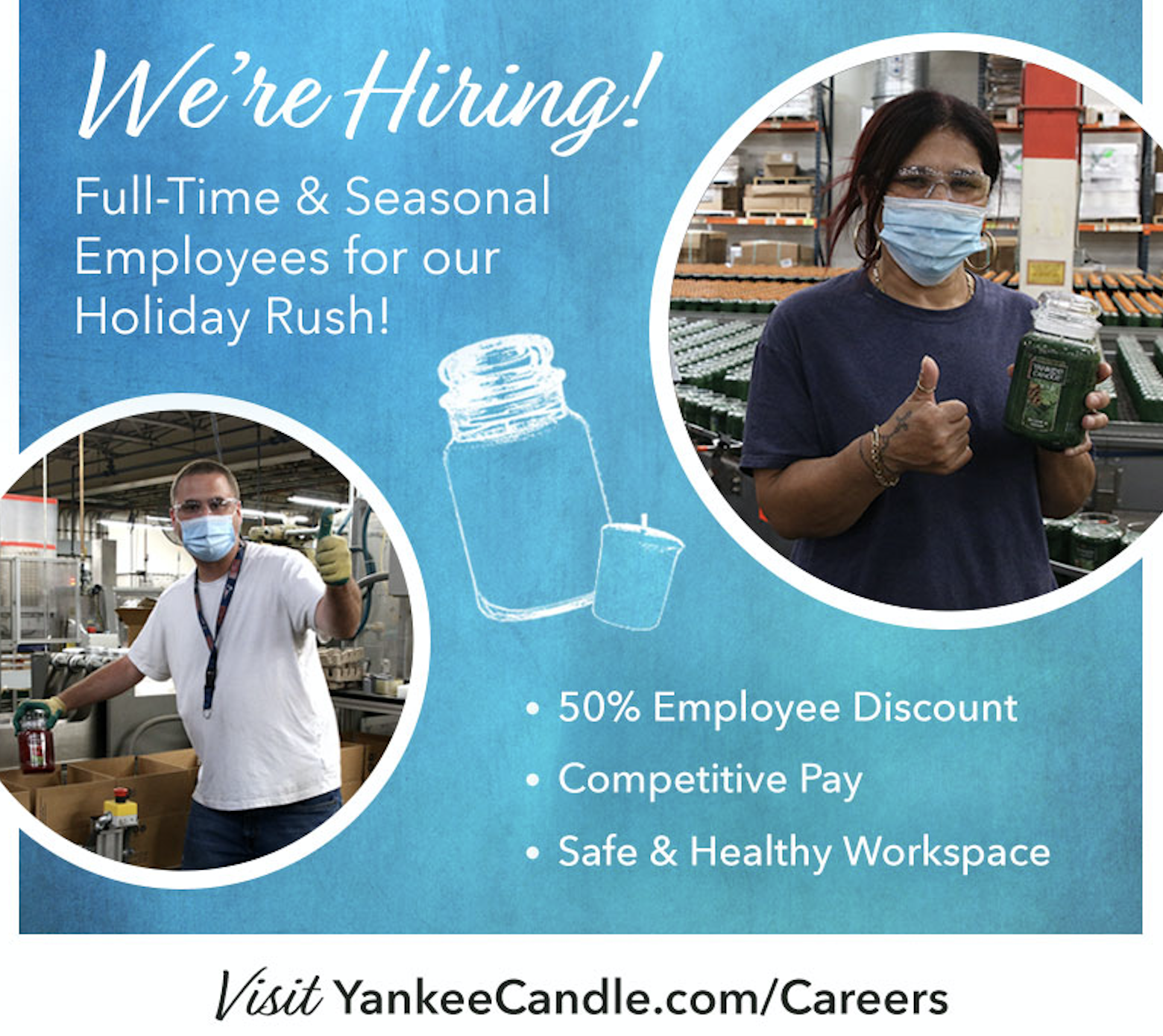 Yankee Candle is Hiring for Seasonal Jobs!